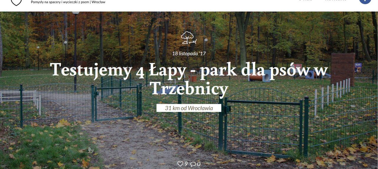 Hebankowy.pl - Testujemy 4 Łapy - park dla psów w Trzebnicy